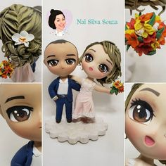 Noivinhos em biscuit Elsa, Disney Characters, Fictional Characters, Disney Princess, Craft, Ideas, Boyfriends, Fantasy Characters, Disney Princes