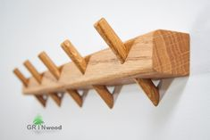 Bathroom Towel Rack // Wooden Pegs Towel Hanger // Kitchen Wall Towel Rack // Bathroom Storage Wall Mount // Wooden Towel Hooks - ▬ Click + for more product details Keep your towels with wood wall mount towel rail. Towel Hanger, Towel Hooks, Hanger Hooks, Wall Hanger, Towel Rack Bathroom, Bathroom Storage, Wall Storage, Storage Rack, Diy Storage
