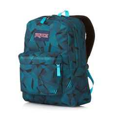 jansport backpacks for girls | JanSport Superbreak Backpack - Blue Deco Prism | Free UK Delivery