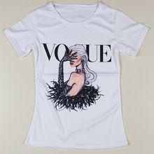 Verano del estilo T Shirt mujeres Vogue Retro Punk Harajuku camisetas cuello redondo Sexy Top Tees ropa Casual de manga corta para S-XXXL(China (Mainland))