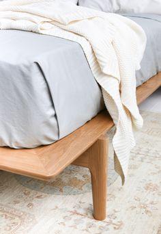 hedge house furniture for trnk platform bed frame in handcrafted walnut