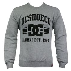 DC Shoes D055860102 RD Alumni Mens Fleece-Lined Sweat Top AW12 Heather Grey