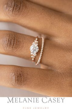 Tanakorn New Statement Designed India Pink Leaf Crystal Cut Ring Gold 7