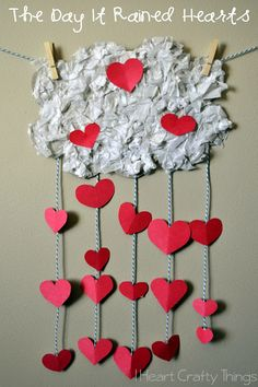 Day it Rained Hearts Valentines Craft for Kids Fun Valentine's Day Craft for Kids that goes with the book The Day it Rained Hearts by Felicia Bond.Fun Valentine's Day Craft for Kids that goes with the book The Day it Rained Hearts by Felicia Bond. Valentines Day Book, Kinder Valentines, Valentine Theme, Valentine Sday, Valentine's Day Crafts For Kids, Valentine Crafts For Kids, Valentines Day Activities, Kids Diy, 4 Kids
