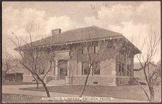 Abilene, Texas TX - Carnegie Library 1912 Vintage Postcard Postcards For Sale, Vintage Postcards, Abilene Texas, Carnegie Library, Big Country, Texas History, West Texas, Book Shelves, Old West