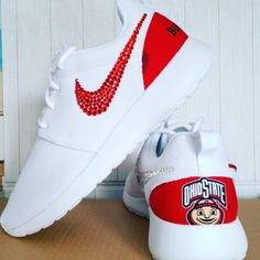 Buckeye Custom Nike Roshe by naomisclosetllc1 on Etsy Nike Signs e76ed35205