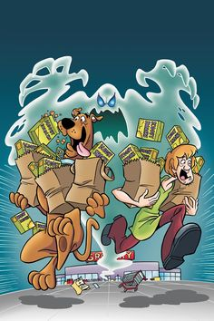 Because scooby doo can not go grocery shopping without running into a ghost