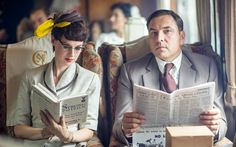 David Walliams and Jessica Raine as Tommy and Tuppence