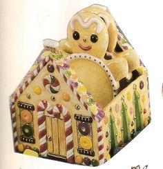 ma1307 - Gingerbread Coaster Holder