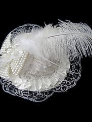 Women Satin/Imitation Pearl Hats With Wedding/P... – AUD $ 13.69