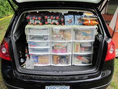 This is how you actually pack the car for a camping trip!
