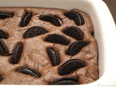 Brownie de galletas Oreo - MisThermorecetas