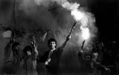Chris Smith -Roma fans with flares at 1984 European Cup Final Time Pictures, Picture Editor, European Cup, Powerful Images, Soccer Fans, Great Photographers, See Images, Muhammad Ali, Liverpool