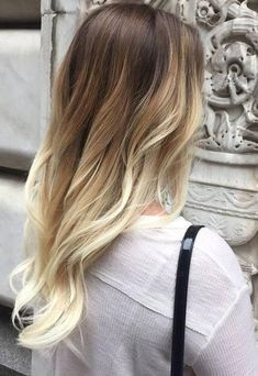 Ombre Color black to Bleach Blonde hair, clip in hair extensions, Remy human hair, 7 pcs, 100g