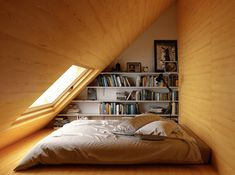 The Do's and Don'ts of Attic Rooms Low Ceiling Bedroom Designs In the current era, designing a bedroom has become rather a favorite profession. If there are several bedrooms in your house, then one of your bedrooms is going to… Continue Reading → Low Ceiling Bedroom, Attic Bedroom Decor, Attic Bedroom Designs, Attic Design, Bedroom Loft, Attic Playroom, Diy Bedroom, Interior Design, Bedroom Ideas
