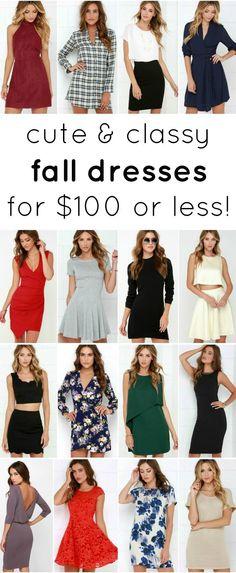 Cute & classy fall dresses under $100! | Ashley Brooke by @ashleynicholas