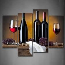 Firstwallart Grape Wine in Bottle Cups Kitchen Wall Art Painting Pictures Print On Canvas Food The Picture for Home Modern Decoration Wine Wall Art, Wine Art, Kitchen Wall Art, Framed Wall Art, Wall Art Pictures, Pictures To Paint, Print Pictures, Painting Pictures, Home Pictures