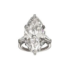 Bulgari - Marquise Diamond Engagement Ring - In Style Weddings found on Polyvore