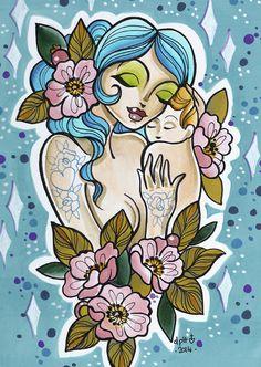 dawnii fantana painted lady tattoo painting art artwork female tattooist zoltar