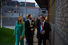 wort.lu:  HGD Stéphanie and HGD Guillaume attended the official opening of the 1535 creative hub for artists, Differdange, October 9, 2015