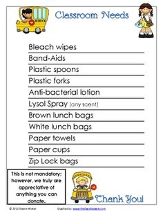 In this packet, you will find items that you will need to organize your classroom.  You will find forms, notes to parents and volunteer calendars. ...