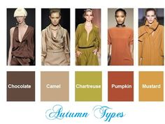 Color trends fall / winter 2012-2013  for Autumn types