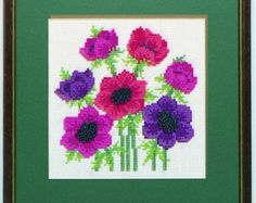 A favourite garden flower which makes an attractive picture.  Also see the blue version in this range.  Kit contains 14 count aida fabric, DMC stranded cotton threads, clear chart, needle, thread card and colour picture of the finished design. Design size: 13 x 17 cms (51/4 x 7) .