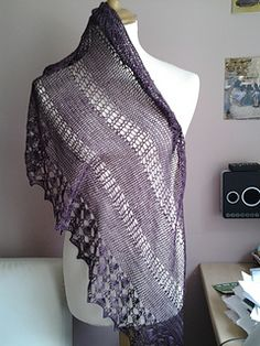 Summer Breeze is not one, nor two, but three shawls in the same pattern.