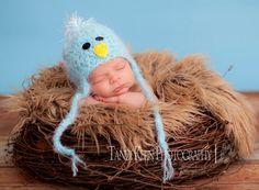 Little Blue Bird Baby Hat via Etsy  #cute #Easter