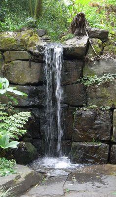 Beautiful backyard waterfall