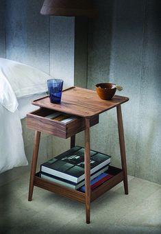 20 Contemporary Nightstand Inspirations For Modern Master Bedroom Wooden Bedroom, Modern Bedroom Decor, Bedroom Ideas, Bedroom Images, Bedroom Styles, Bedroom Designs, Classic Furniture, Contemporary Furniture, Contemporary Nightstands