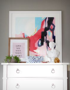 How to style art on a dresser | Decor Fix