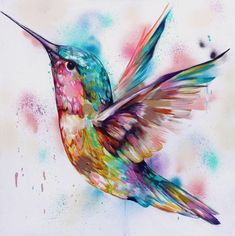 Buy original paintings and prints by Sian Storey Art - an artist in Basingstoke, Hampshire, England Watercolor Hummingbird, Hummingbird Tattoo, Watercolor Paintings, Original Paintings, Hummingbird Pictures, Abstract Tattoo Designs, Cute Fantasy Creatures, Leaf Drawing, Bird Drawings