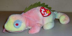 TY Beanie Baby Babies Original Iggy Iguana Lizard Tie Dye Plush Rainbow Colors Original Beanie Babies, Ty Beanie, Rainbow Colors, Beenie Babies, Dinosaur Stuffed Animal, Plush, The Originals, Minecraft, Tie Dye