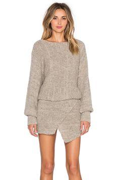687884426d3e Shop for AYNI Lupuna Asymmetrical Sweater Dress in Beige Melange at REVOLVE.
