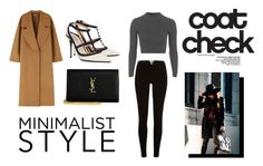 """""""coat? check!"""" by bellatr on Polyvore featuring Topshop, Valentino, Yves Saint Laurent and Maison Michel"""