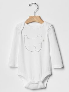 Bear graphic bodysuit