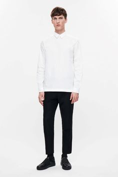 COS image 1 of Buttonless shirt in White