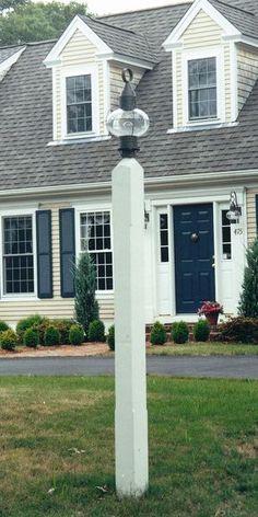 Square Style Cedar Lantern Post