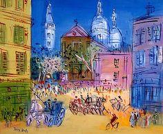 L'église Saint-Pierre de Montmartre et le Sacré-Coeur (1953) - Jean Dufy