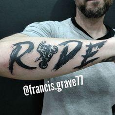 First of the year... #tattoos #blacktattoos #blackworkers #blackwork #ride #motorcyclelife #speed #forearmtattoos #francisgravetattooer