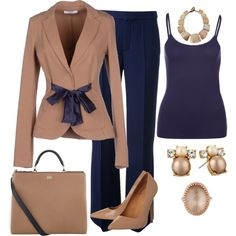A fashion look from March 2015 featuring Zalando tops, LIU Mode Outfits, Fashion Outfits, Womens Fashion, Fashion Trends, Classy Outfits, Casual Outfits, Trouser Outfits, Professional Outfits, Work Wardrobe