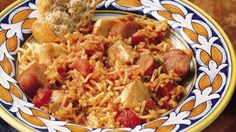 You're only moments away from a Creole adventure when you combine recipe-ready cut-up chicken with rice-and-pasta mix, seasoned tomatoes and Polish sausage.