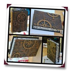 alter a book with steampunk Moore Altered Books, Altered Art, Book Crafts, Paper Crafts, Andrew Moore, Steampunk Wedding, Steampunk Fashion, Art Journals, Louis Vuitton Monogram