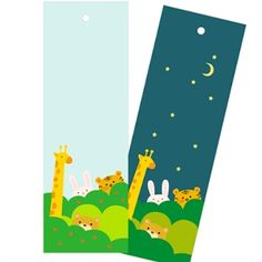 Day & Night Animal Bookmarks.. Free printable... Other free bookmarks here!