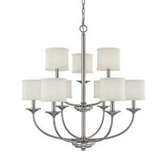 Check out the Capital Lighting 3929MN-469 Loft 9 Light Matte Nickel Chandelier priced at $355.00 at Homeclick.com.