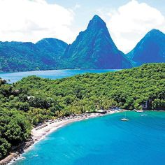 This gorgeous view of @ansechastanet St. Lucia makes us want to run away to the #Caribbean and never look back!