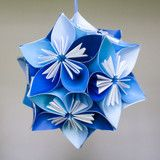 Blue Small Origami Kusudama Flower Ball. #Handmade Great #gift idea for anyone on your list!