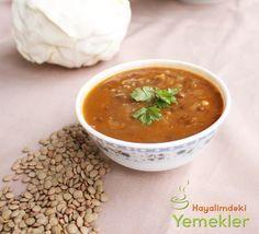 Yeşil Mercimekli  Diyet Lahana Çorbası nasıl yapılır