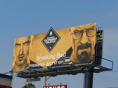 Breaking Bad season four TV billboard. Bilboard Design, Graphic Design, Breaking Bad Seasons, Billboards Advertising, Ads, Fashion Tv, Art Direction, Signage, Movie Tv